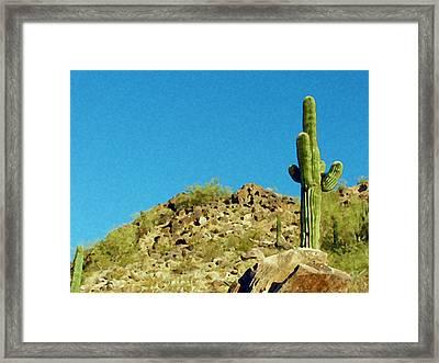 Desert Sky Framed Print by Judi Saunders