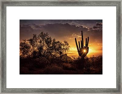 Framed Print featuring the photograph Desert Skylight  by Saija Lehtonen