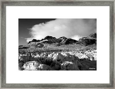 Desert Snow  Framed Print by Adam Jones