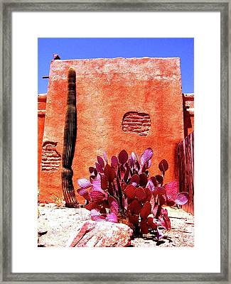 Framed Print featuring the photograph Desert Solace by Michelle Dallocchio