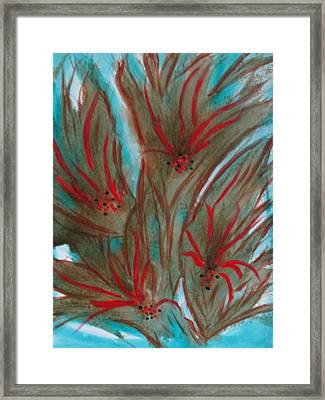 Framed Print featuring the painting Desert Spirits by Sharyn Winters