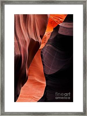 Desert Split Framed Print by Mike  Dawson