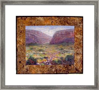 Desert Spring Framed Print by Diane and Donelli  DiMaria