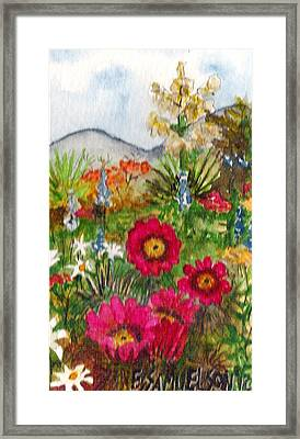 Framed Print featuring the painting Desert Spring by Eric Samuelson
