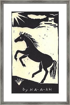Desert Stallion Framed Print