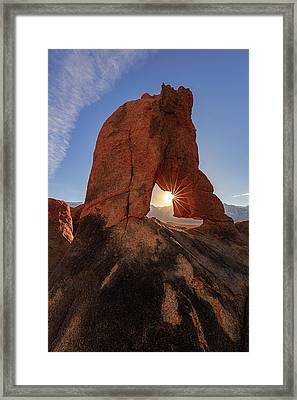 Framed Print featuring the photograph Desert Star by Mike Lang