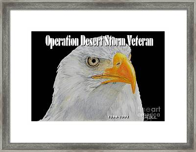 Desert Storm Eagle Framed Print by Bill Richards