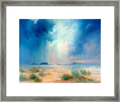 Desert Storm Framed Print by Sally Seago