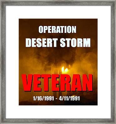 Desert Storm Vet Phone Case Work Framed Print