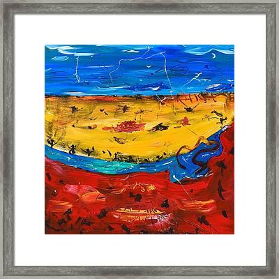 Desert Stream Framed Print