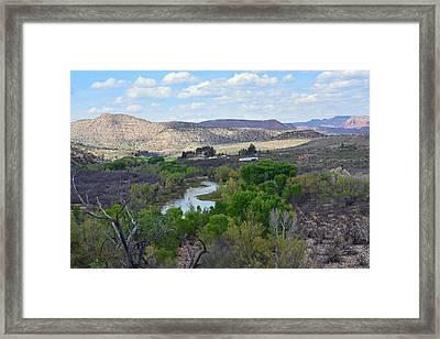 Desert Stream - Verde Canyon Framed Print