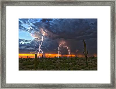 Framed Print featuring the photograph Desert Strike by James Menzies