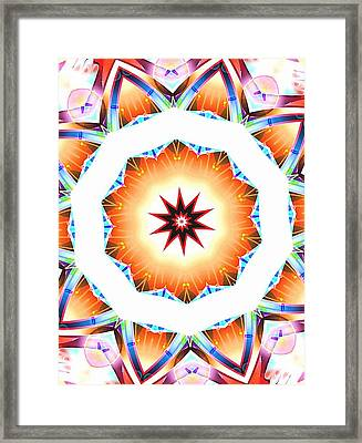 Desert Sun Star Of Peace And Joy Framed Print by Ritchard Mifsud