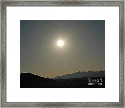 Framed Print featuring the digital art Desert Sun by Walter Chamberlain