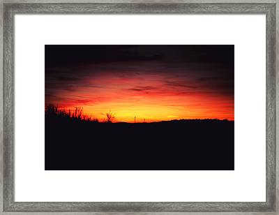 Desert Sundown Framed Print