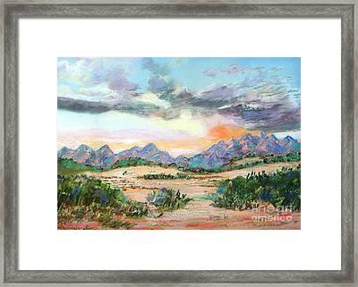Desert Sunrise Framed Print by Lucinda  Hansen