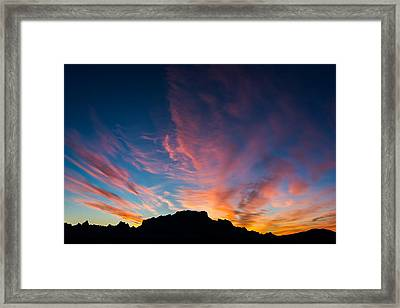 Framed Print featuring the photograph Desert Sunrise by Mary Hone