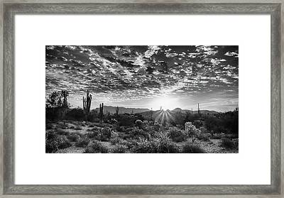 Framed Print featuring the photograph Desert Sunrise by Monte Stevens