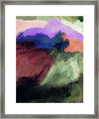 Desert Sunset 1- Art By Linda Woods Framed Print
