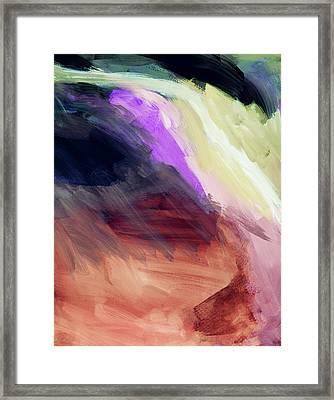 Desert Sunset 2- Abstract Art By Linda Woods Framed Print