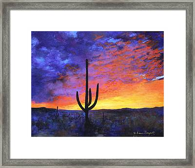 Desert Sunset 4 Framed Print by M Diane Bonaparte