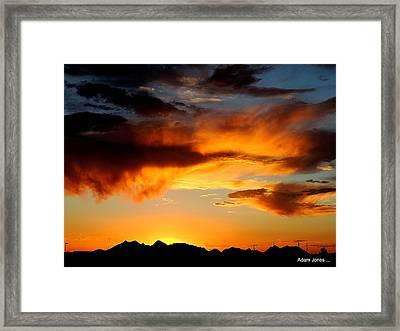 Desert Sunset Framed Print by Adam Jones