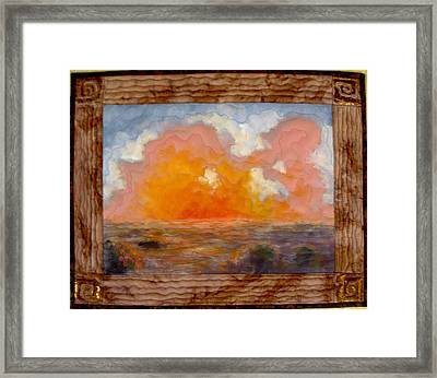 Desert Sunset Framed Print by Diane and Donelli  DiMaria