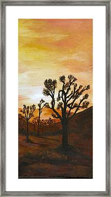 Desert Sunset II Framed Print by Merle Blair