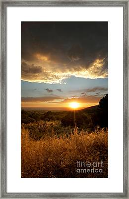 Desert Sunset Over Albuquerque Framed Print by Matt Tilghman