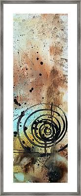 Desert Surroundings 4 By Madart Framed Print by Megan Duncanson
