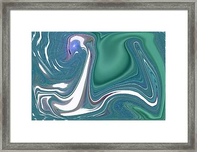 Framed Print featuring the painting Desert Swan by Sherri  Of Palm Springs