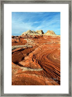 Desert Swirl Framed Print by Mike Dawson
