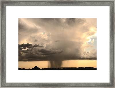 Desert Thunderstorm Framed Print