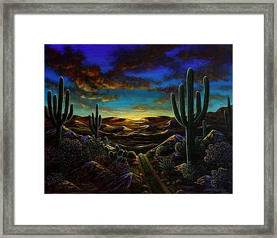 Framed Print featuring the painting Desert Trail by Lance Headlee