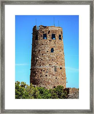 Desert View Watchtower At The Grand Canyon Framed Print