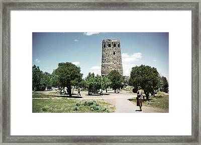 1950 Desert View Watchtower Colter Framed Print by Marilyn Hunt
