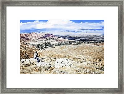 Desert Viewer  Framed Print
