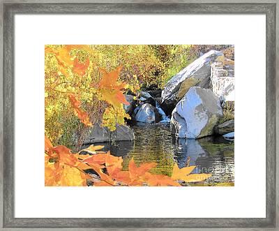 Desert Waterfall Framed Print