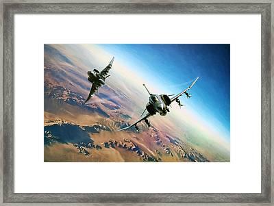 Desert Weasels Framed Print by Peter Chilelli