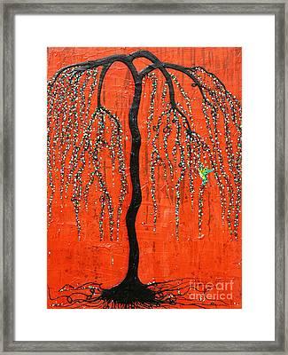 Desert Willow Framed Print by Natalie Briney