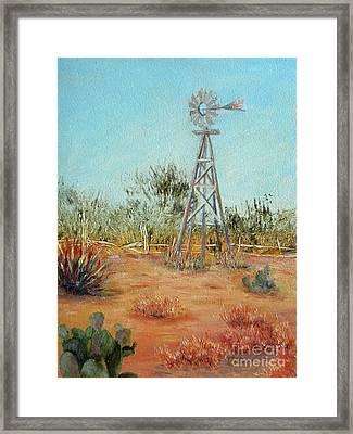 Desert Windmill Framed Print