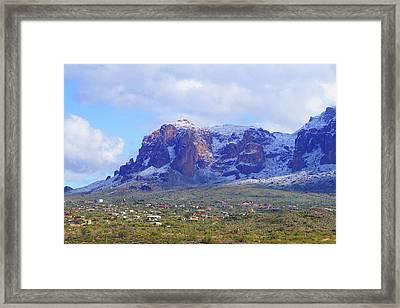 Desert Winter Framed Print