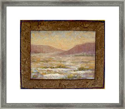 Desert Winter Framed Print by Diane and Donelli DiMaria