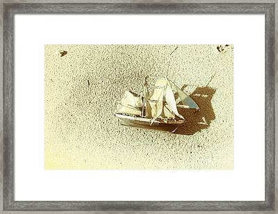 Deserted Antique Sailing Ship Framed Print by Jorgo Photography - Wall Art Gallery