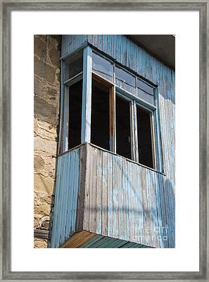 Deserted Balcony  Framed Print