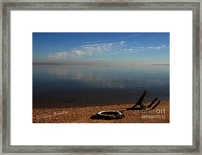 Deserted Beach Framed Print by Clayton Bruster