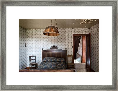 Deserted Bed Room - Urban Decay Framed Print by Dirk Ercken