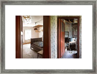 Deserted Bedroom - Urban Decay Framed Print by Dirk Ercken