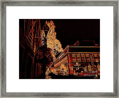 Naked City Night Framed Print by Rick Maxwell