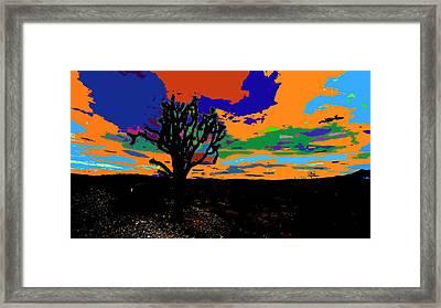 Deserted Color Landscape Framed Print
